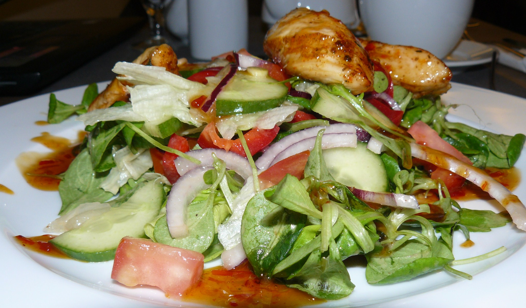 Leafy Greens Chicken Salad