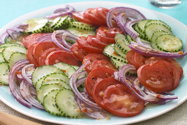 Tomato, Onion & Cucumber Salad