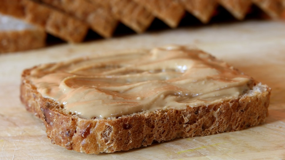 brown bread and peanut butter