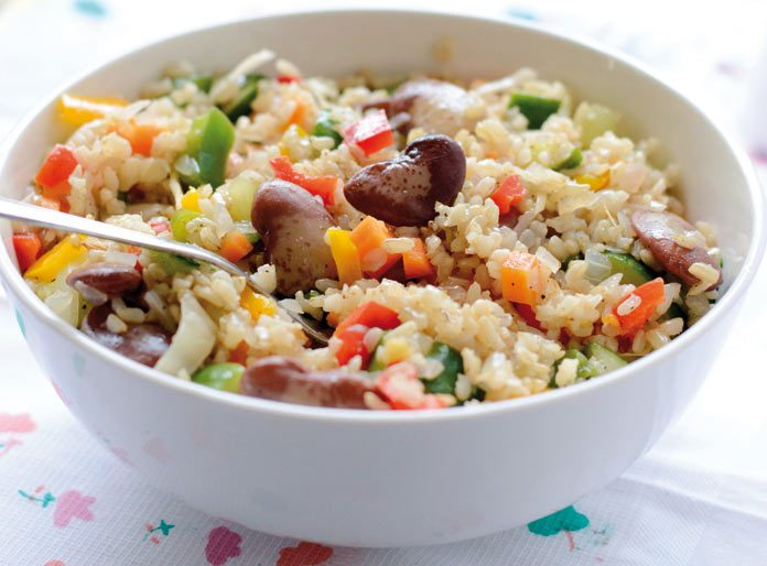 Brown rice with veg