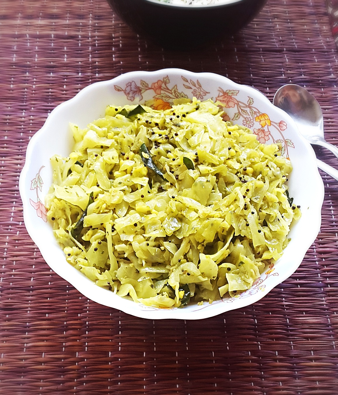 Coconut And Cabbage Preparation