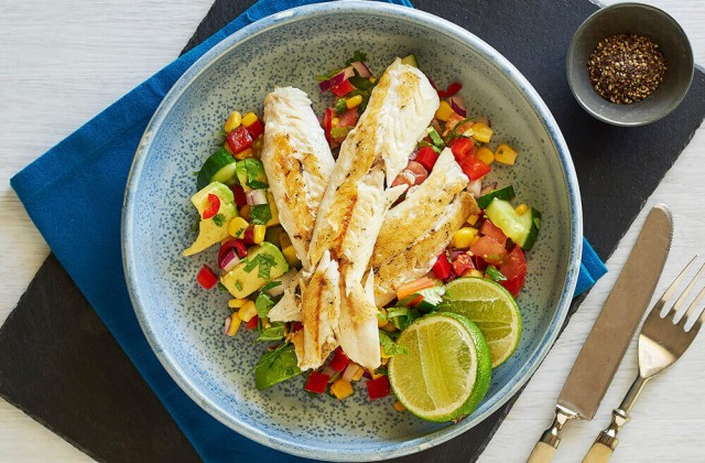 Grilled Fish Salad