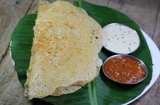 Oats dosa with sambar