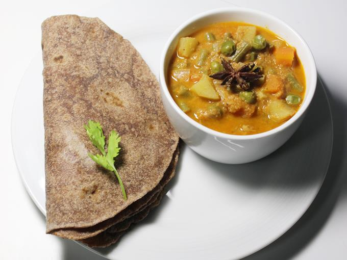 Roti With sabji
