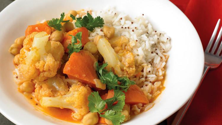 rice and sabji