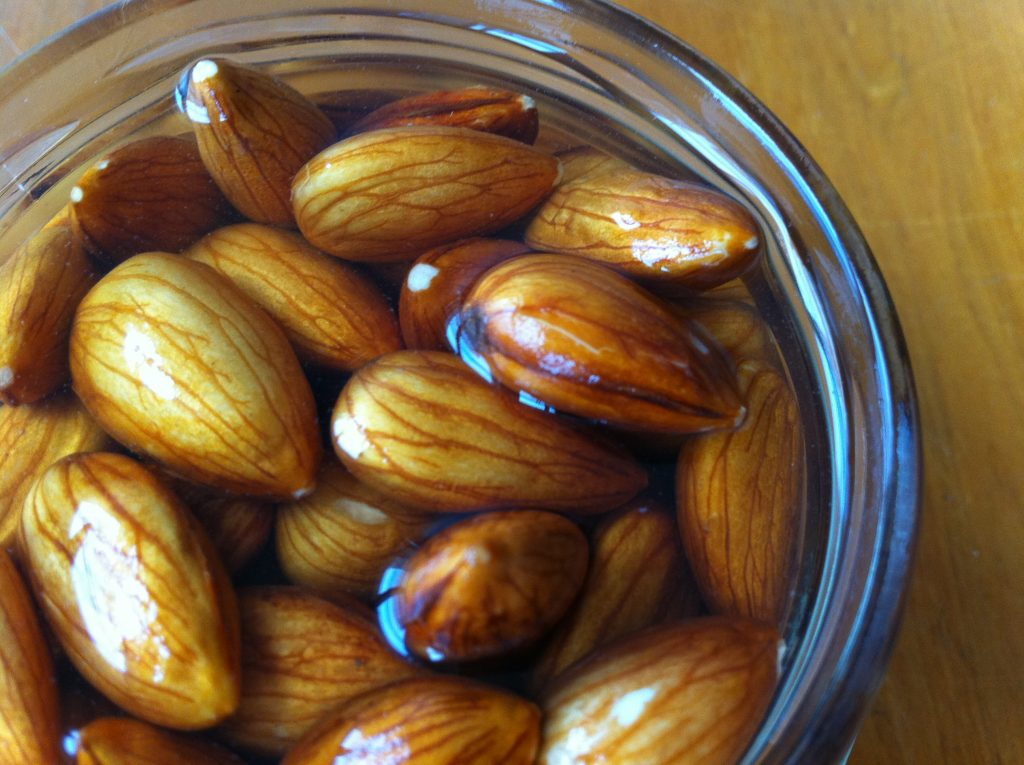 soaked almond