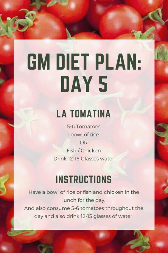 gm diet plan day 5