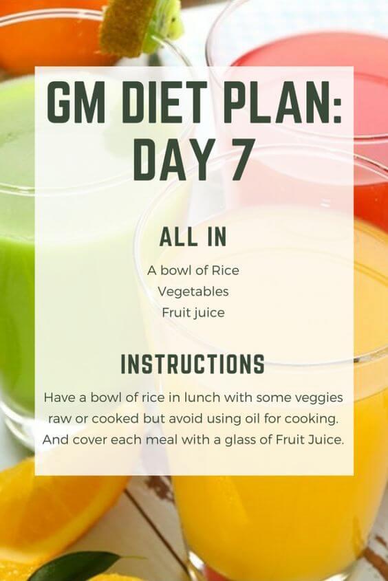 gm diet plan day 7