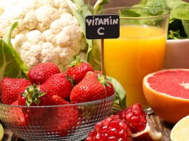 vitamin C fruits and vegetables chart