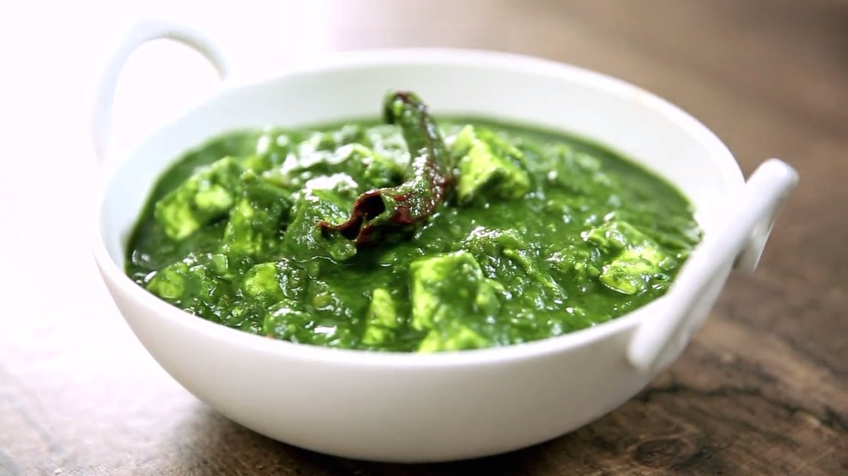 Matar Palak Paneer Curry Recipe