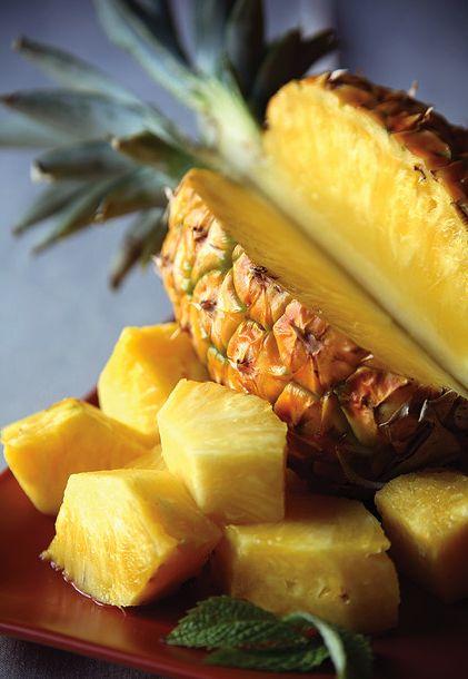 bowl of pineapple