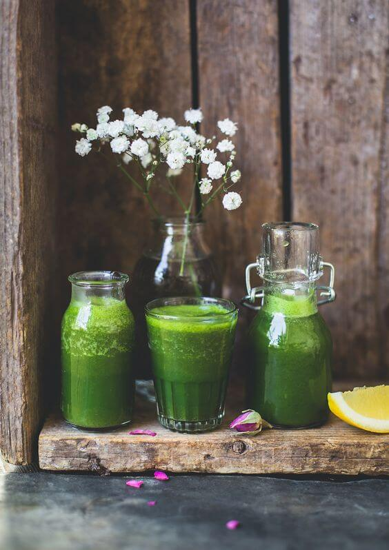 green and leafy veggie juice