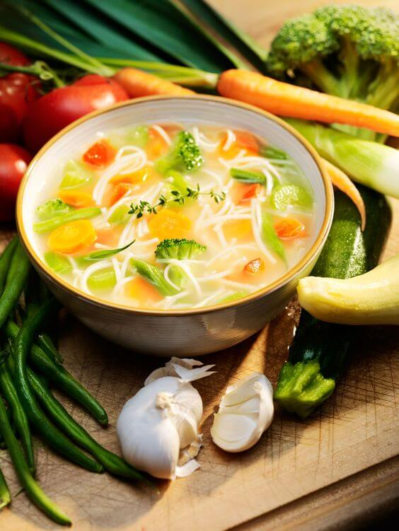 mixed veggies soup