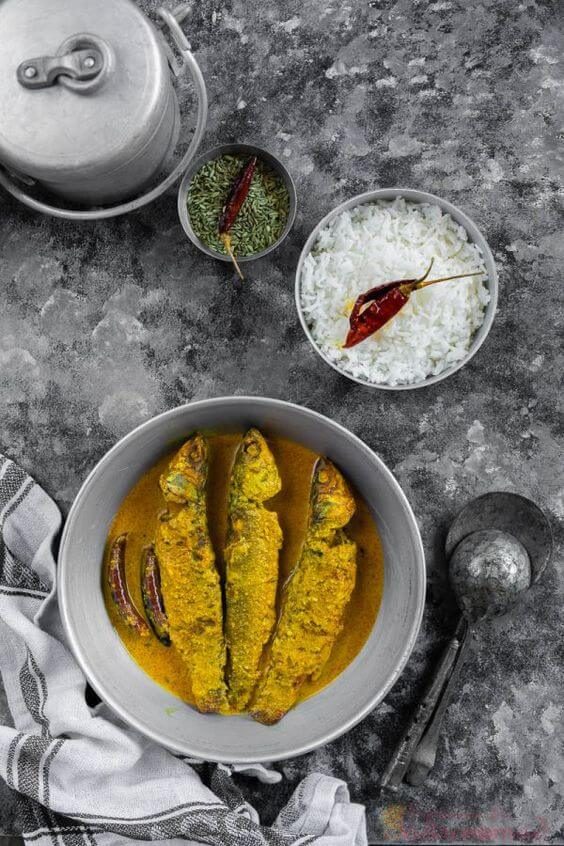 rice with fish curry