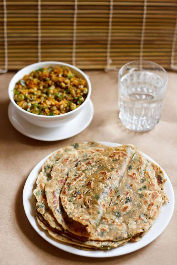 vegetable with paratha