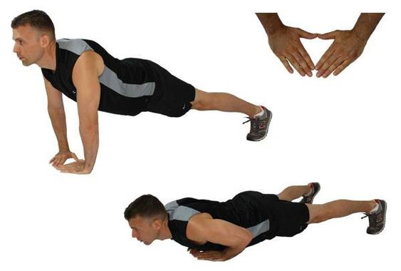 Diamond Push-Ups Workout